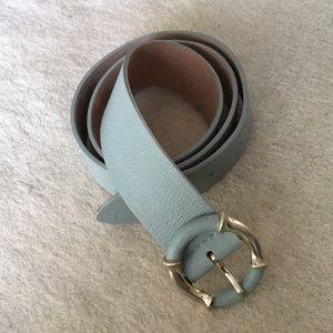 Jcrew mint leather belt